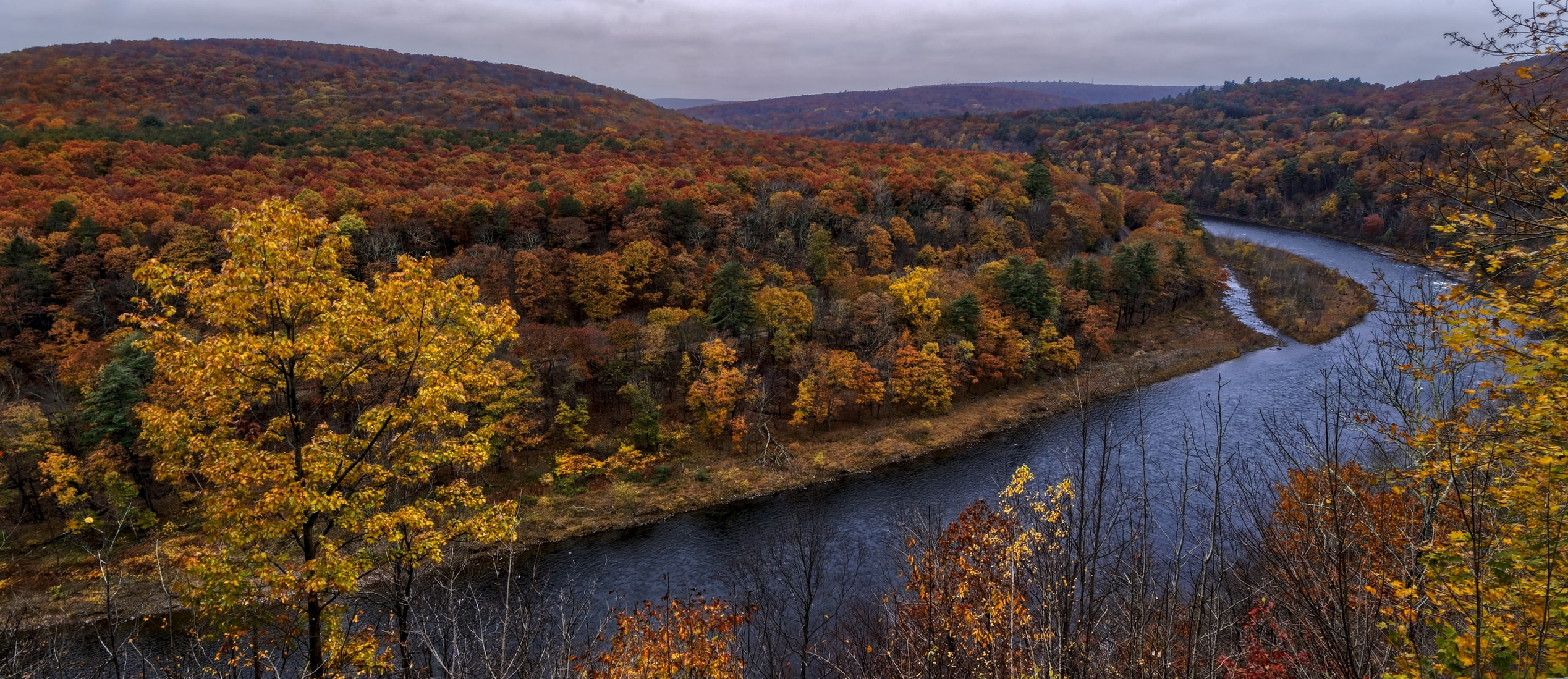 fall landscape in the Catskills