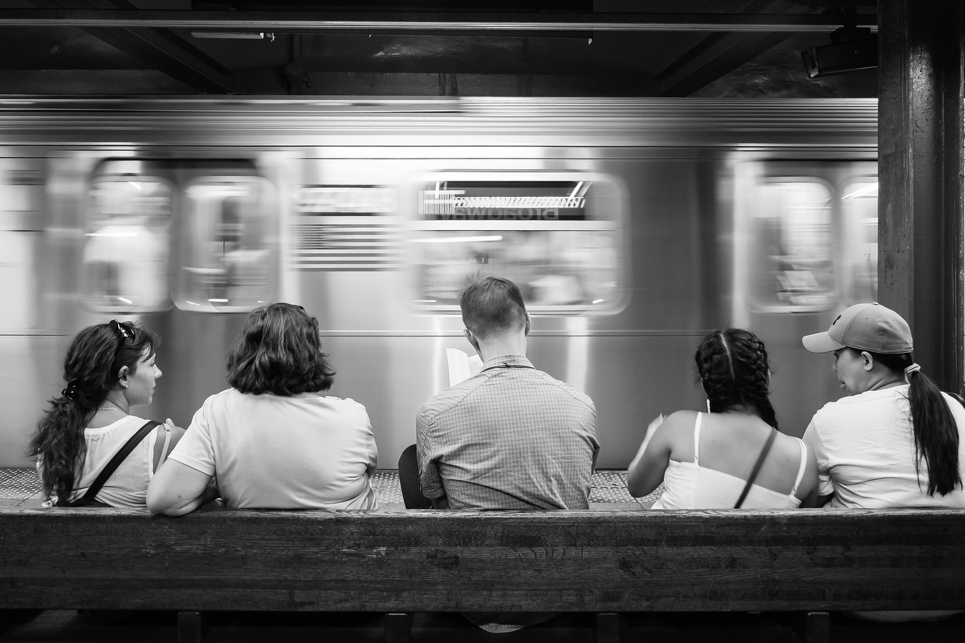 People in the NYC Subway