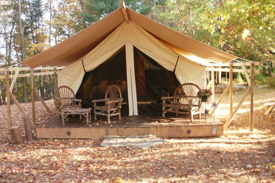 Catskills glamping at Blue Hills Farm Tent and Breakfast