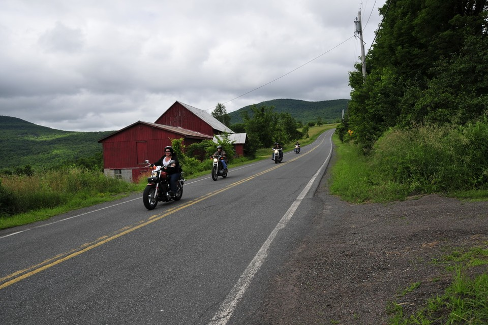 Motorcycling in Greene County