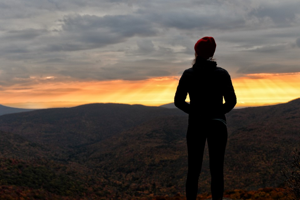 woman enjoying the Catskills Park in New York State