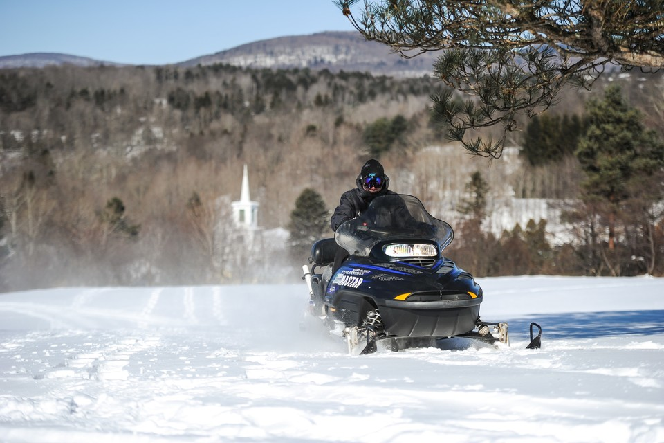 snowmobiling in Greene County of the Catskills region