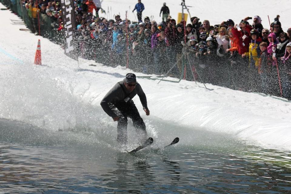 winter pond skimming