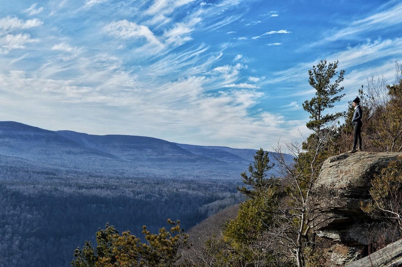 Scenic overlook at summit