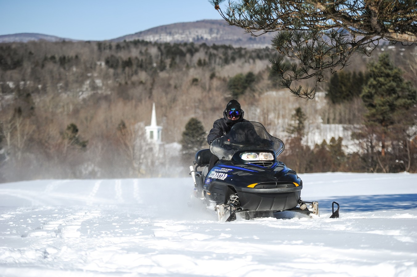 snowmobiling in the Catskills