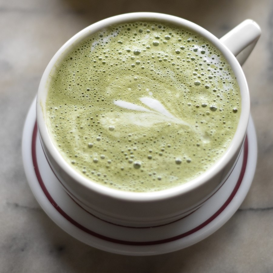 Macha coffee beverage