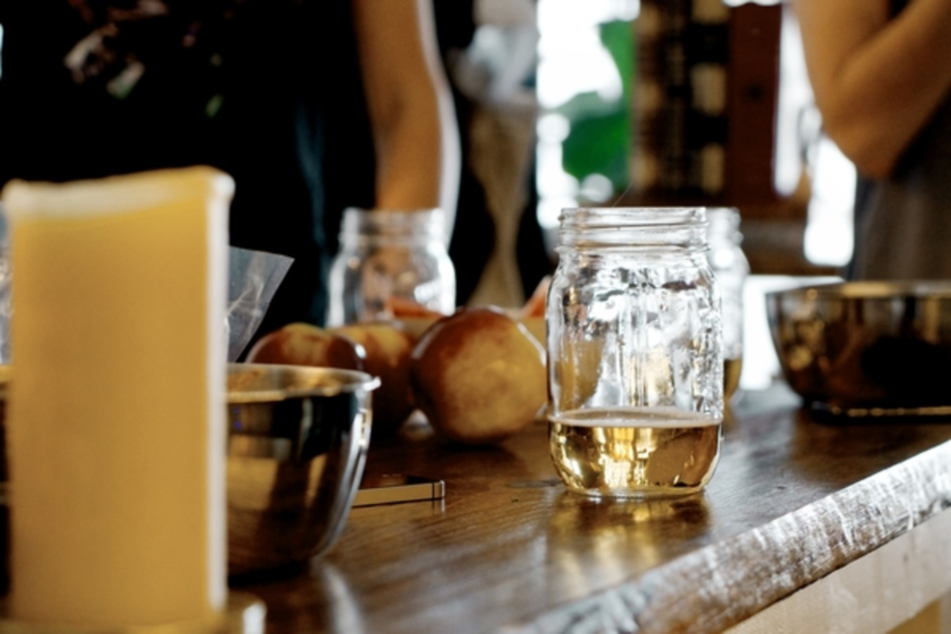 mason jar with cider
