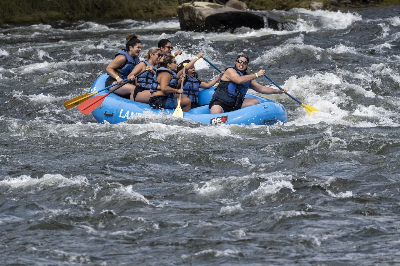 group whitewater rafting in the Catskills