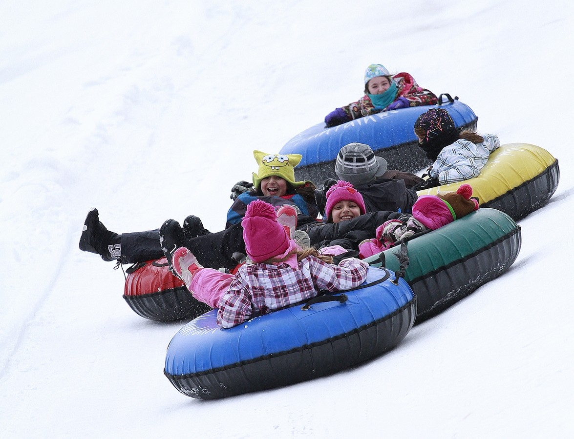 Snow tubing at Hunter Mountain in the Catskills