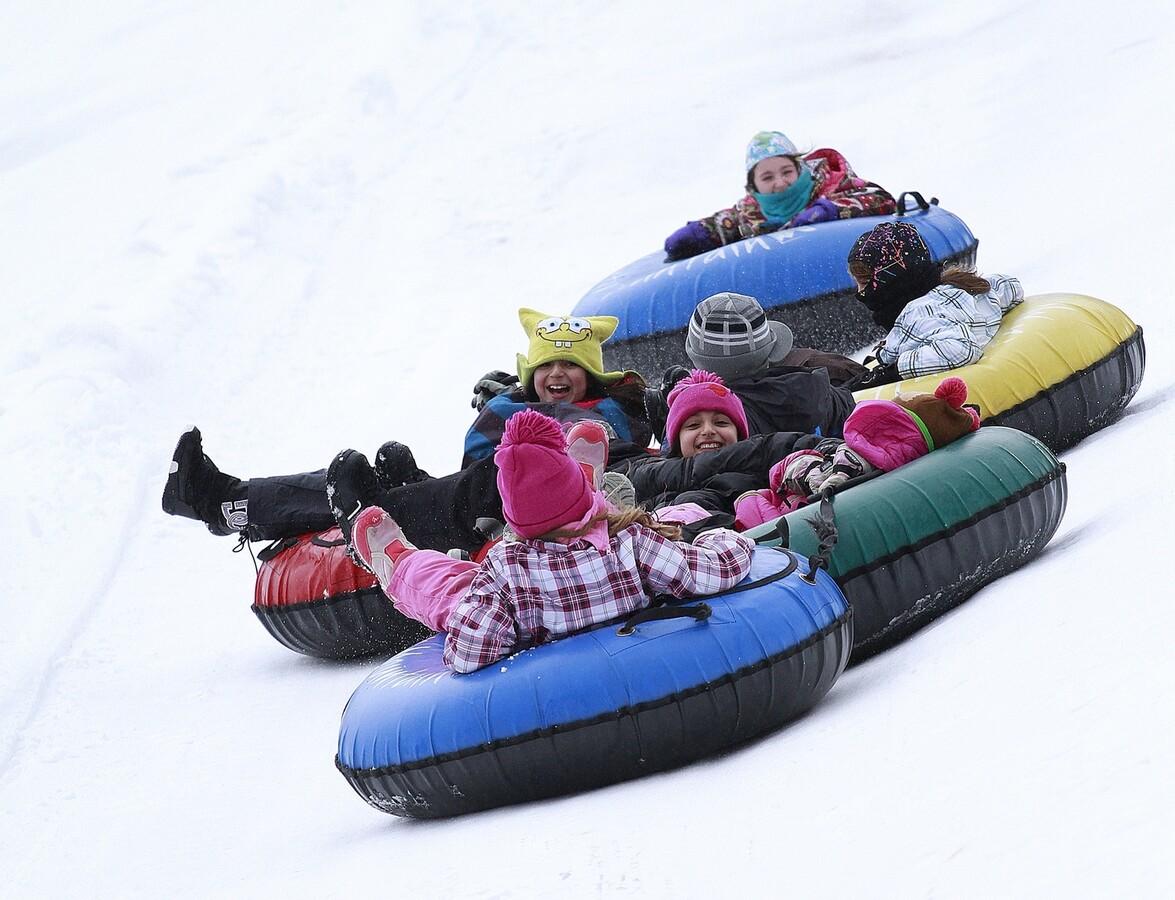 snow tubing in the Catskills
